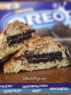 Oreo Stuffed Chocolate Chip Cookie recipe! They are just plain ridiculous, outrageous, delicious And, yes, completely Addictive.