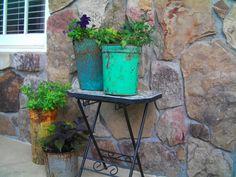 Sap Buckets In the Garder :: Sap Buckets in the Garden