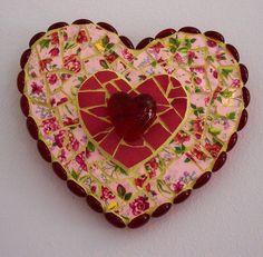 Broken China Mosaic Heart