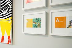 framed letters of the alphabet to spell a name