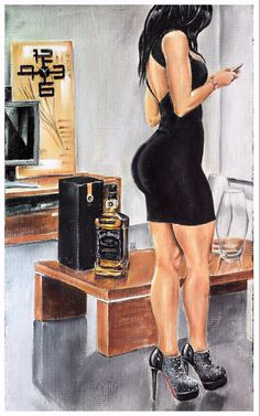 JEREMY WORST Sinatra Select jack daniels Signed by JeremyWorst art painting drawing print jack daniels she squats bro sexy naked fitness workout vintage pinup pin up fashion design style fitness inspire inspiration motivation