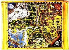 Map of the World of CRON, from the 1988 CRPG Might and Magic II: Gates to Another World