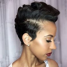 STYLIST FEATURE| Gorgeous curls➰ on this classic #pixiecut✂️ done by #AtlantaStylist @StylesbyCorieb❤️ GORGEOUS #VoiceOfHair