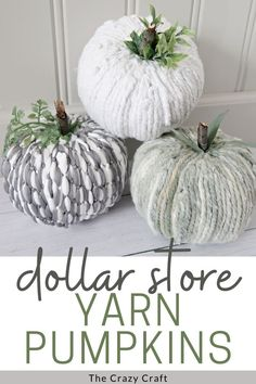 Grab a foam pumpkin and a mop head to make these Dollar Tree mop pumpkins - such an easy fall craft filled with farmhouse charm. Dollar Tree Pumpkins, Foam Pumpkins, Dollar Tree Crafts, Pumpkin Topiary, Diy Pumpkin, Pumpkin Crafts, Pumpkin Ideas, Fall Halloween, Halloween Crafts