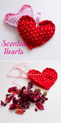 Scented sweater heart satchels.