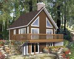 A Nature Lover's Dream House Plan - 80659PM | 1st Floor Master Suite, CAD Available, Canadian, Cottage, Metric, PDF, Sloping Lot, Vacation, Wrap Around Porch | Architectural Designs