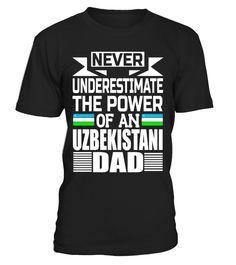 Mens Storecastle: Uzbekistani Dad Father's Day Uzbekistan T-Shirt