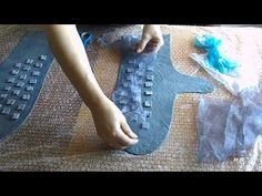 валяние/декорирую варежки / что получилось - YouTube Nuno Felting, Needle Felting, Hand Embroidery, Machine Embroidery, Felted Wool Crafts, Wool Gloves, Felting Tutorials, Recycled Fashion, Handmade Clothes