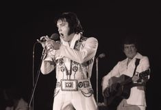 Elvis Presley Saturday, February 12, 1977 Hollywood Sportatorium, Hollywood, FL (Lou Toman, Sun Sentinel) .