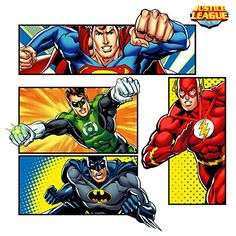 Justice League Super Hero Wall Decals >>> Details can be found by clicking on the image. Large Wall Decals, Wall Stickers Murals, New Justice League, Van Gogh Almond Blossom, Wall Mirror With Shelf, Drafting Chair, Comic Book Style, Signature Design, Home Decor Furniture