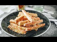 Mennyei sajtos rúd Lila Fügétől - YouTube Salty Snacks, Grubs, Other Recipes, Cake Cookies, Pesto, Carrots, Cake Recipes, Rolls, Vegan