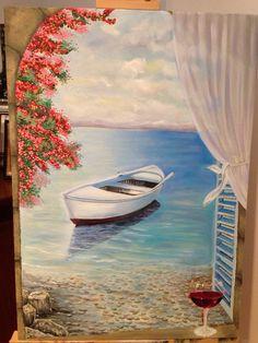 mikapanteleon-PawakomastoNhpiagwgeio: Summer in Kindergarten-mikapanteleon-PawakomastoNhpiagwgeio: Καλοκαίρι στο Νηπιαγωγ… mikapanteleon-PawakomastoNhpiagwgeio: Summer at Kindergarten 2018 - Acrylic Painting Canvas, Acrylic Art, Canvas Art, Paintings I Love, Pictures To Paint, Beautiful Artwork, Painting Inspiration, Painting & Drawing, Amazing Art