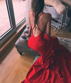 Imagem de red, dress, and fashion