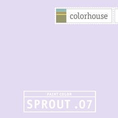 Colorhouse SPROUT .07: As yummy as the scent of spring lilacs. Peaceful and pleasant for dreaming.