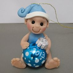 Babys First Christmas Polymer Clay Ornament by clayinaround, $15.00
