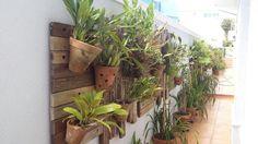 Paineis em madeira reciclada para jardins verticais - viaverde_paisagismo