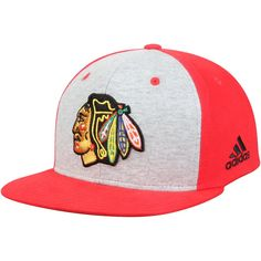 Men s Chicago Blackhawks adidas Gray Contrast Front Snapback Adjustable Hat c2f868f1bfd6