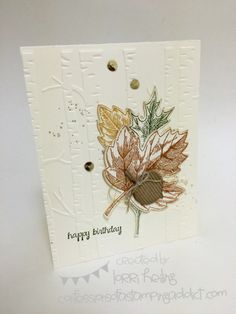 It's Time for October Virtual Club!! :: Confessions of a Stamping Addict VIntage Leaves Lorri Heiling Stampin' Up