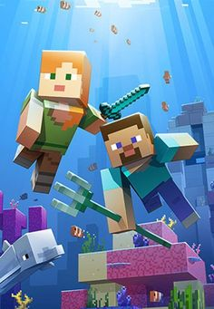 Aquatic Update launches on Xbox One, Window 10 Mobile & PC Free pattern and Tut. Minecraft's Aquatic Update launches on Xbox One, Window 10 Mobile & PCMinecraft's Aquatic Update launches on Xbox One, Window 10 Mobile & PC Minecraft Posters, Minecraft Banner Designs, Minecraft Pictures, Minecraft Banners, Minecraft Videos, Minecraft Fan Art, Minecraft Creations, Minecraft Skins, Minecraft Houses