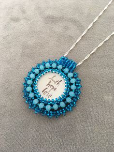 A personal favorite from my Etsy shop https://www.etsy.com/listing/538288002/turquoise-bead-embroidery-necklace-bead