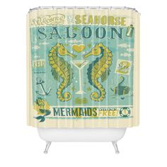Anderson Design Group Seahorse Saloon Shower Curtain | DENY Designs Home Accessories