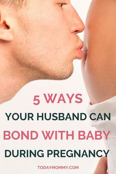 "How To Help Your Husband Bond With Your New Baby - Tips for during pregnancy and after delivery. A must-read for first-time moms! baby tips Tips on how to strengthen this ""husband bond new baby"" connection. Baby Tips, Bond, First Trimester, Third Trimester Workout, Morning Sickness, After Baby, All Family, Pregnant Mom, Sleep While Pregnant"