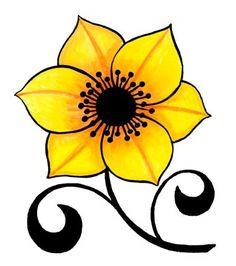 Medium Rock Flowers, Beadwork Designs, Flower Doodles, Flower Template, Stencil Designs, Copics, Fabric Painting, Stone Painting, Rock Art
