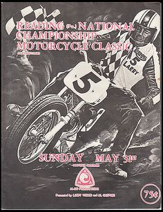 1970-READING-MOTORCYCLE-RACING-PROGRAM-HARLEY-BROCHURE-TRIUMPH-BSA-MANN-LAWWILL