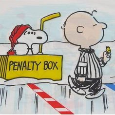 Hockey snoopy-penalty box