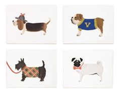 Assorted Dog Set cards designed by Anna Bond for Rifle Paper Co.