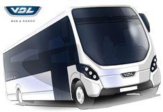 vdl citea mle Transport Bus Urban Sketch                                                                               More
