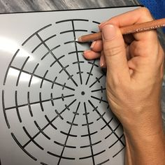 the is a 12 segment stencil 20 x ( Dot Painting Tools, Dot Art Painting, Mandala Painting, Pebble Painting, Pebble Art, Mandala Pattern, Mandala Design, Rock Crafts, Arts And Crafts
