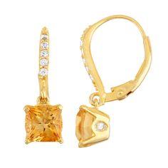 For the KIKI Classic Citrine Cushion & Diamond Earrings