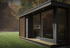 Pods to suit all needs from small home office use, garden studio pods & outdoor office commercial buildings. Outdoor Office, Backyard Office, Garden Office, Backyard Studio, Backyard House, Modern Tiny House, Tiny House Plans, Modern Homes, Shed Design