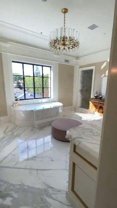 Modern Bathroom Design, Bathroom Interior Design, Interior Design Living Room, Master Bedroom Design, Master Bathroom, Master Closet, Luxury Homes Dream Houses, Elegant Home Decor, Dream Home Design