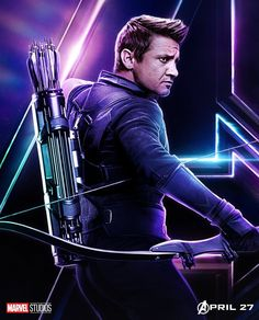 Hawkeye the infamous Archer. Hawkeye is well known for top level skills with a Bow and Arrow. Clint Barton (Hawkeye) however was not seen in Avengers Infinity War but he will most likely make an appearance in the Avengers 4 according to the producers. The Avengers, Hawkeye Avengers, Avengers Poster, Hawkeye Bow, Hawkeye Comic, Loki Thor, Loki Laufeyson, Marvel Comics, Marvel Heroes