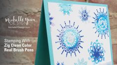 This card making tutorial shows you how to do a watercolor stamping technique using Zig Clean Color Markers. Michelle's blog: http://michelleydesign.com Stor...