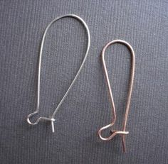 The Beading Gem's Journal: How to Make Long Kidney Ear Wires Tutorial