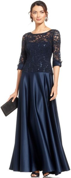 JS Collections Sequin Lace Illusion Gown @Lyst