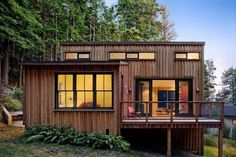 Love this one!!! 840 Sq. Ft. Modern and Rustic Small Cabin in the Redwoods