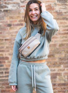 Minimalist Bag Hip Bag Fanny Pack 0 Waste Handmade Bag Botanical Dye Reclaimed Fabric