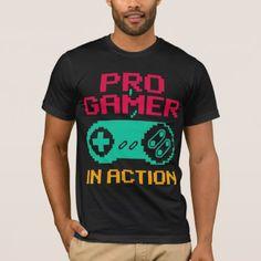 #funny - #Pro Gamer In Action (Pixel Art) T-Shirt