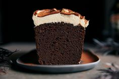 Rich Chocolate Loaf Cake with Baileys Cream Cheese Frosting   Gather & Feast Chocolate Baileys, Chocolate Loaf Cake, Decadent Chocolate Cake, Cream Cream, Cream Cake, Baileys Original Irish Cream, Tea Loaf, Creamy Cheese, Cake Batter