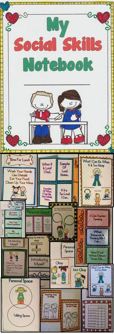 Classroom Ideas and Classroom Resources - Social Skills Activities For Kids - This interactive notebook will help children learn important social skills. This is a great resource for the classroom. Social Skills Activities, Teaching Social Skills, Classroom Activities, Classroom Ideas, Teaching Themes, Classroom Behavior, Teaching Resources, Interactive Student Notebooks, School Social Work
