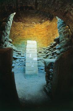 Old ruin of a tomb, Etruscan Tomb, Vetulonia, Maremma, Tuscany, Italy