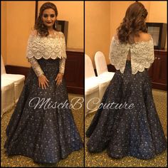 Cape lehenga by MischB Couture Indian Wedding Gowns, Indian Gowns, Indian Attire, Pakistani Dresses, Indian Outfits, Indian Weddings, Lehnga Dress, Cape Lehenga, Anarkali