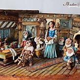 Terrific Snow White and The Seven Dwarfs Cottage Cake