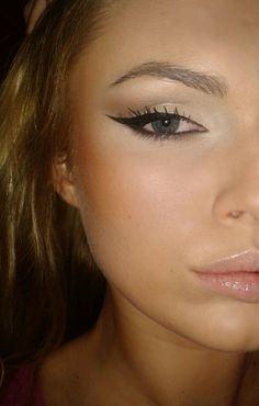 Eyeliner and natural look