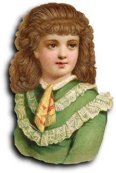Victorian scrap: Girl by Antique Photo Album, via Flickr