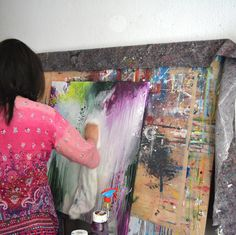 Informal paintings directly from my own studio by ARTbyKirsten